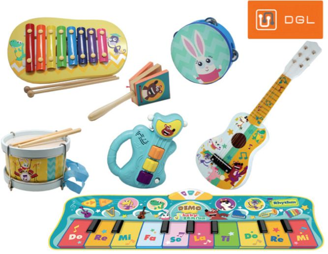 Electronic Guitar Toys Nursery Rhyme Musical Instrument For Babys Kids Ch EZX